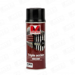 SPRAY TRIPLE ACCION NEGRO 485ML MARSON